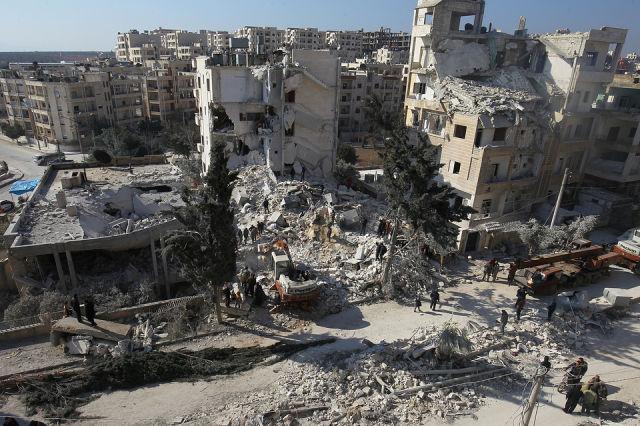 Сирийский город Идлиб