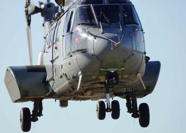 Система Eagle в носовой части вертолета H225.