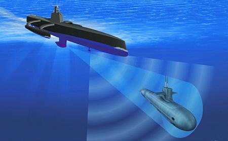 Скоро безэкипажные морские платформы будут объединены информационной сетью с летательными аппаратами и обитаемыми подводными станциями. Иллюстрация с сайта www.darpa.mil