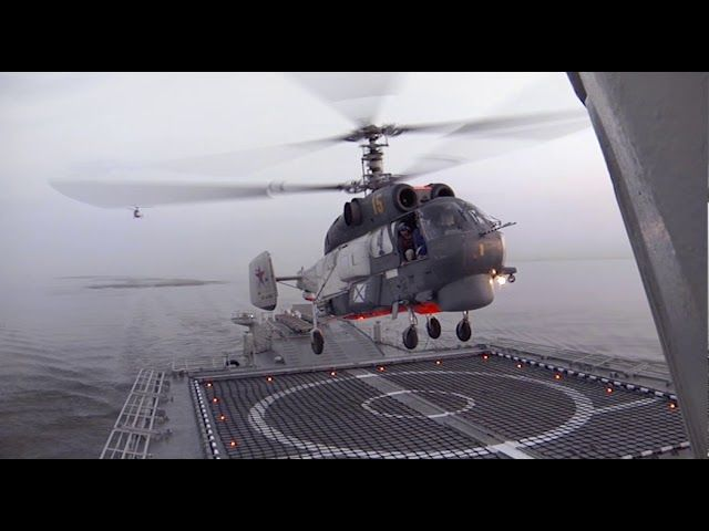 Посадка вертолета Ка-27
