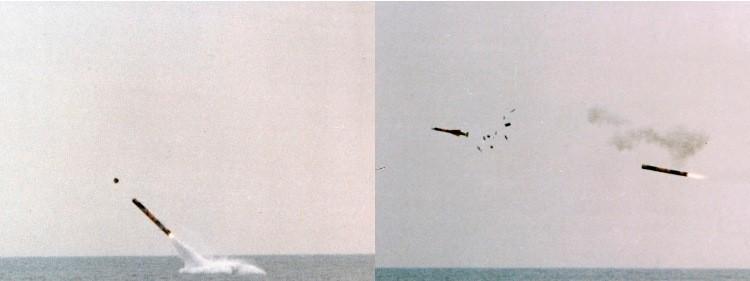 Пуск ракеты SM39 с подводной лодки Kalvari.