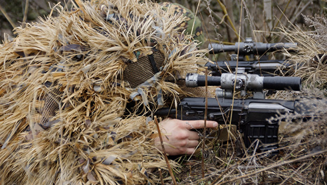 Снайпер с СВД.