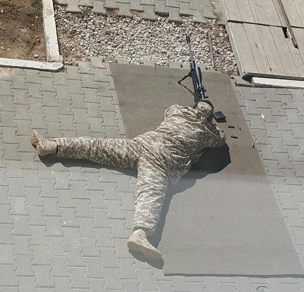 Снайпер ГРУ на стрельбище ЦНИИТОЧМАШ.