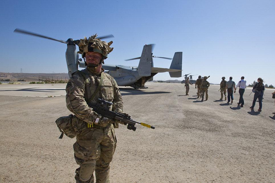 Солдат британского спецназа в Афганистане.