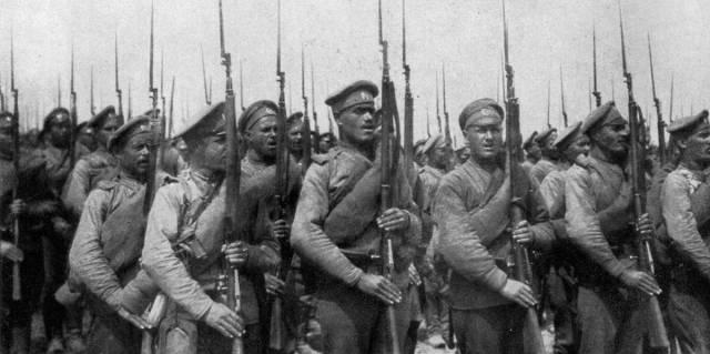Солдаты российской армии во время Первой мировой войны, 1917 год