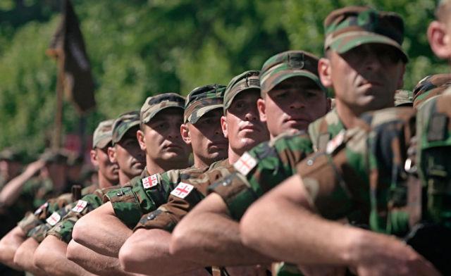 Солдаты грузинской армии