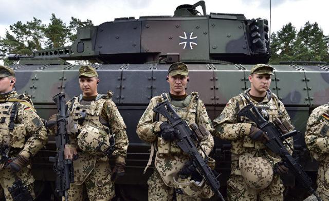 Солдаты танкового подразделения Бундесвера