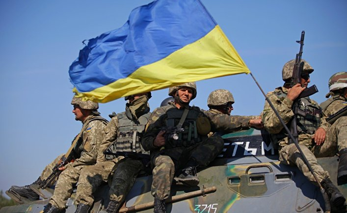 Солдаты ВСУ на востоке Украины.