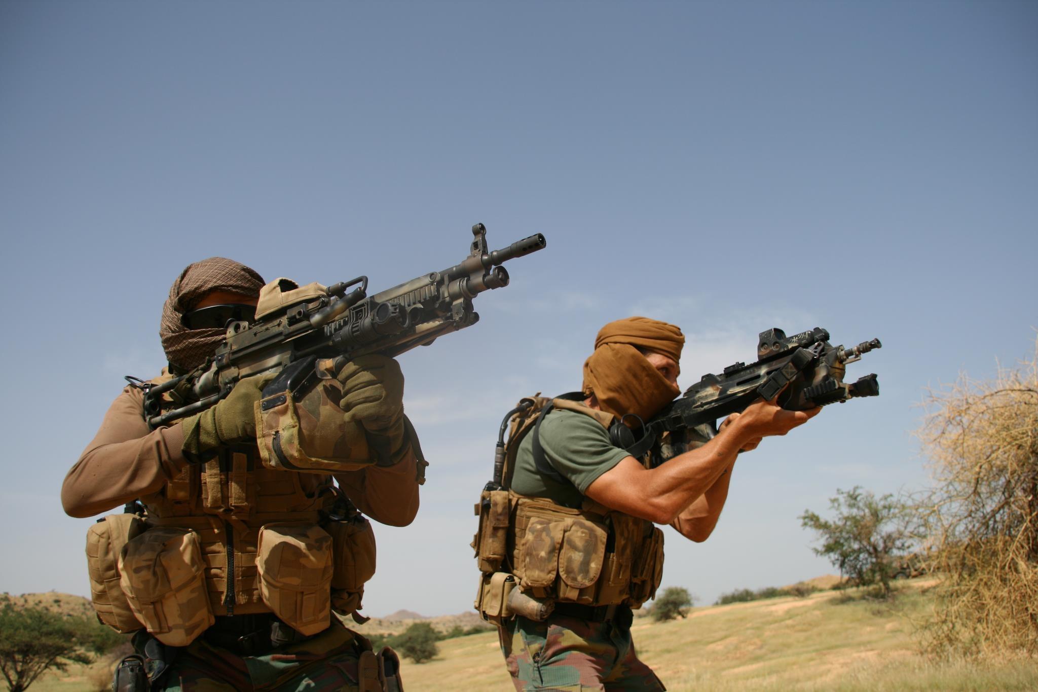 Бойцы бельгийских сил специальных операций в Чаде.