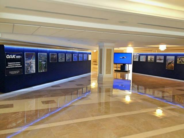 Фотовыставка о продукции ОАО «ОАК» в Совете Федерации, 17 июня 2014г.