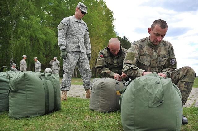 Совместные учения войск США и Польши