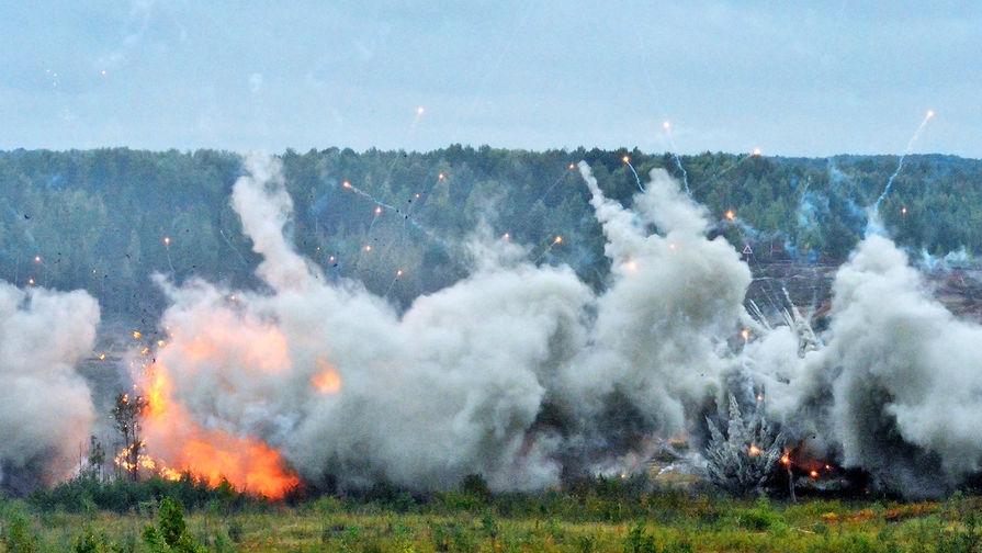 Взрывы во время совместных стратегических учений (ССУ) вооружённых сил России и Белоруссии на Лужском полигоне в Ленинградской области, 18 сентября 2017 года.
