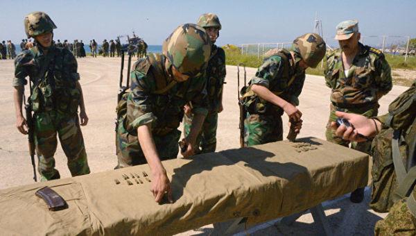Совместные учения российских и сирийских морских пехотинцев в Тартусе. Архивное фото