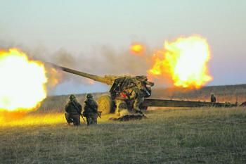 Современная артиллерия сочетает в себе огневую мощь и мобильность. Фото с сайта www.mil.ru