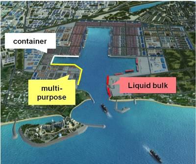 Современное состояние порта Хамбанота на Шри-Ланке после частичной реконструкции на средства китайского финансирования.