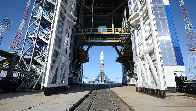 Одна из ракет серии Союз РКЦ Прогресс во время испытания на космодроме Восточный в Амурской области.