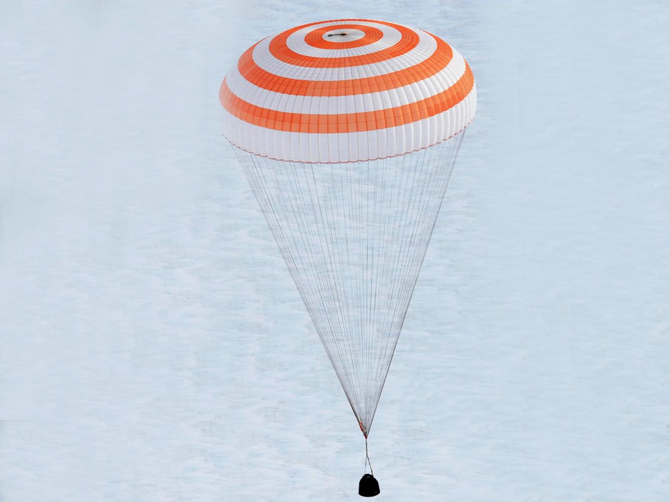 Приземление «Союз ТМА-04М».