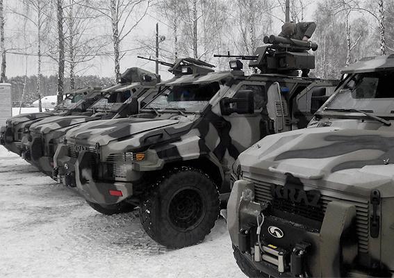 Бронеавтомобили «Спартан» с боевым модулем дистанционного управления «Сармат» ВС Украины.