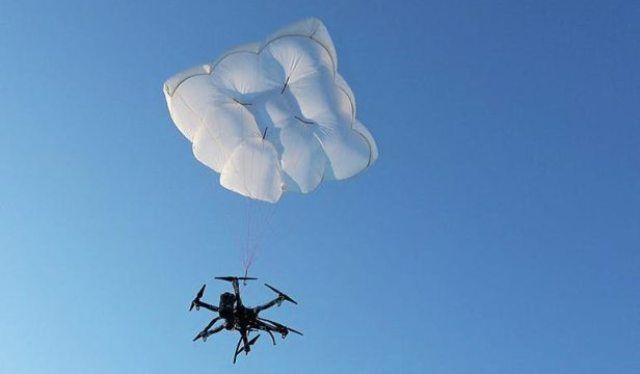 Спасательный парашют для дрона