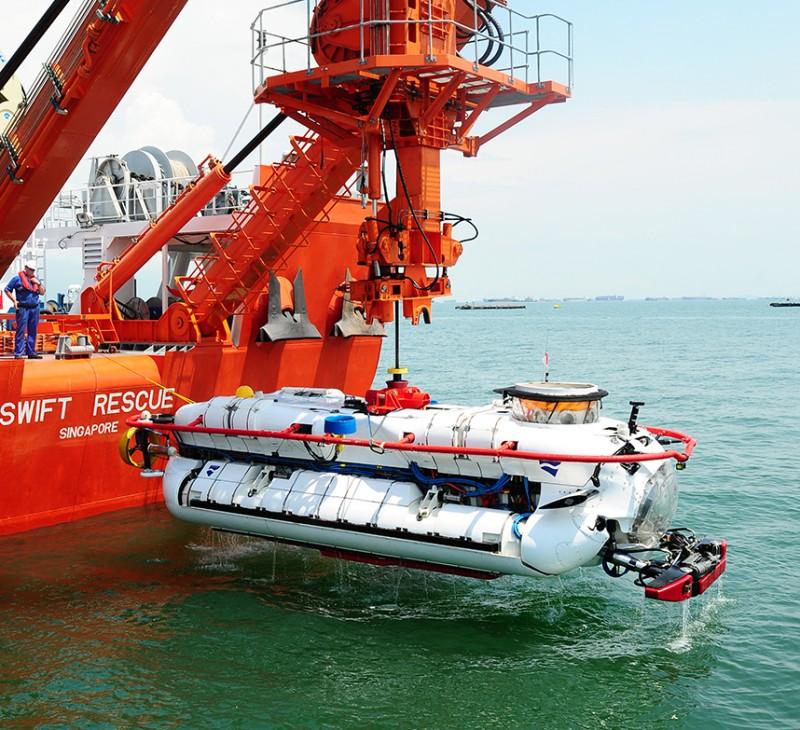 Спасательный глубоководный аппарат DSAR (Deep Search And Rescue) производства британской компании James Fischer Defence.