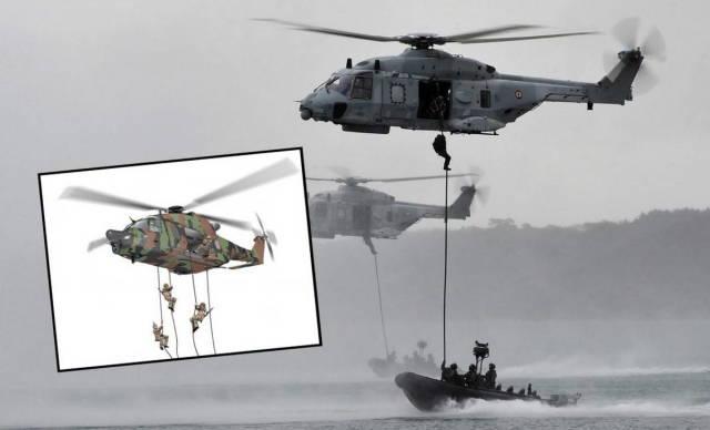 Спецназ Франция получит вертолет NH90