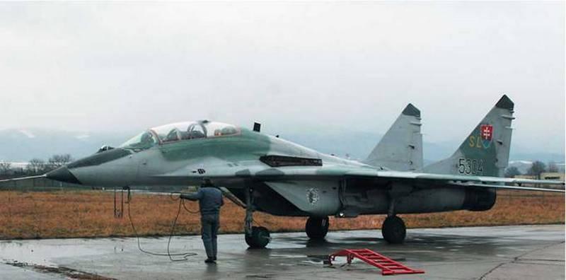Самолет МиГ-29 ВВС Словакии.