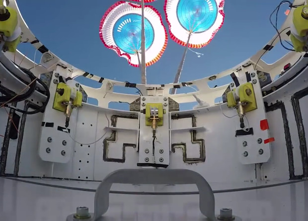 Основные парашюты космического корабля Starliner