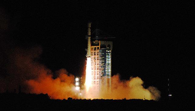 Старт китайской ракеты-носителя.