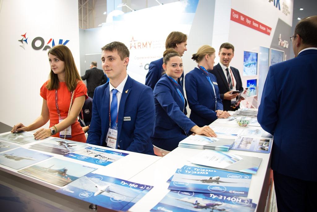 Стенд компании «Туполев» на Международном военно-техническом форуме «Армия-2017».