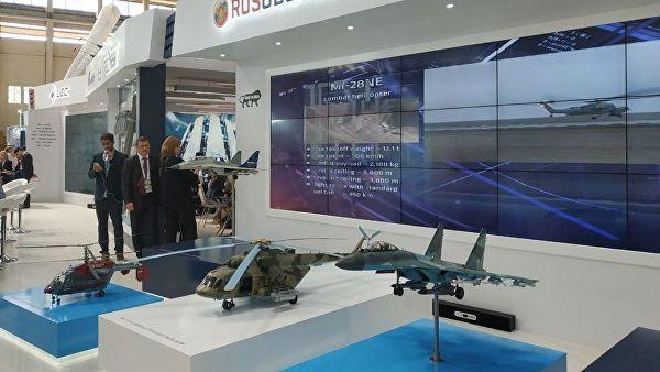 Стенд компании Рособоронэкспорт на выставке