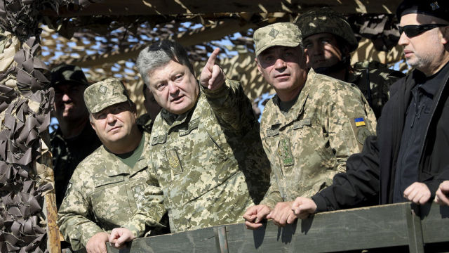 Степан Полторак, Петр Порошенко, Игорь Воронченко и Александр Турчинов