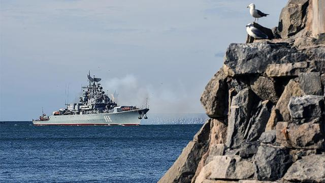 Сторожевой корабль «Пытливый» в бухте Севастополя