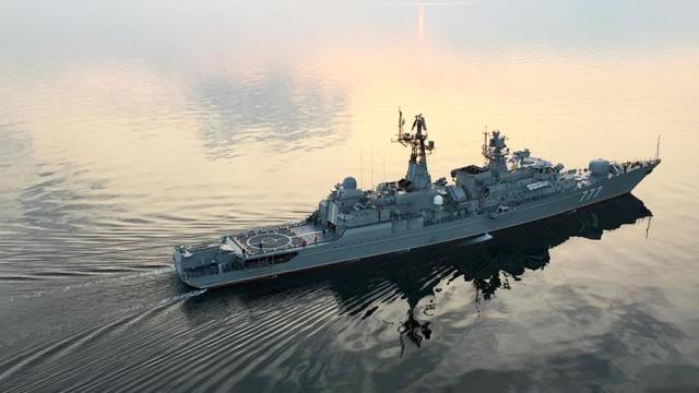 Сторожевой корабль «Ярослав Мудрый» в Аравийском море, декабрь 2019 года