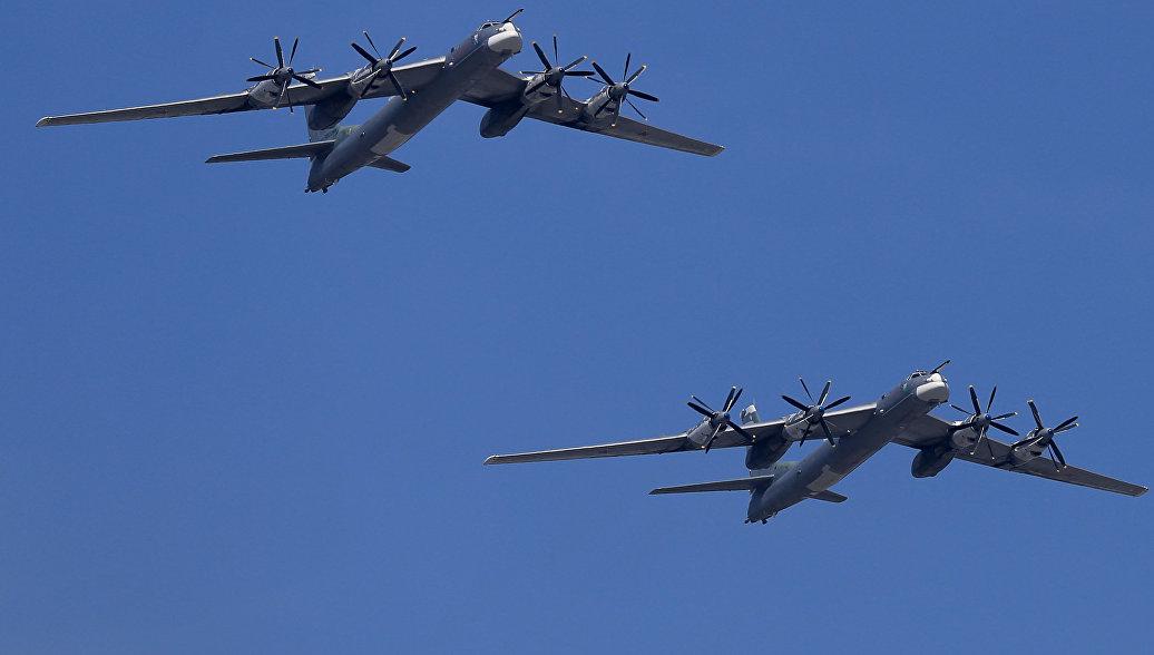 Стратегический бомбардировщик-ракетоносец Ту-95 ВКС России. Архивное фото.