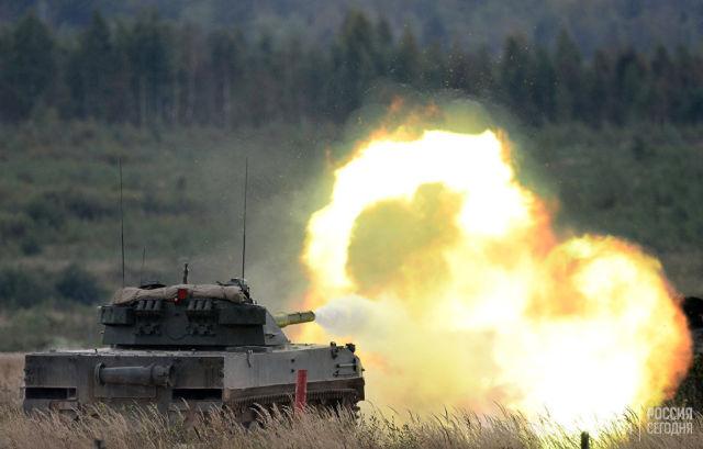 Стрельбы из авиадесантной самоходной противотанковой пушки Спрут-СДМ1