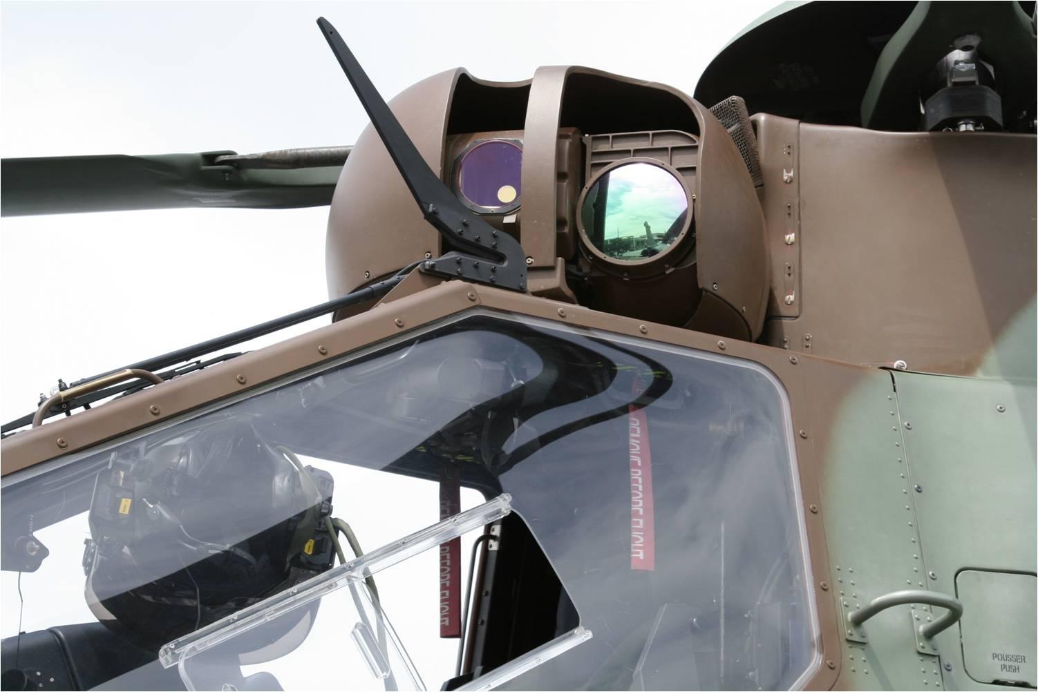 Оптико-электронная система Safran (Sagem) Strix на европейском боевом вертолете Airbus Helicopters Tiger.