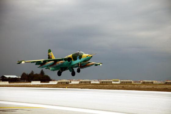 Штурмовик Су-25 ВВС Азербайджана