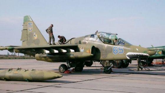 Су-25УБ ВВС Украины