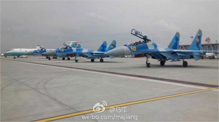 Истребители Су-27 ВВС Казахстана.