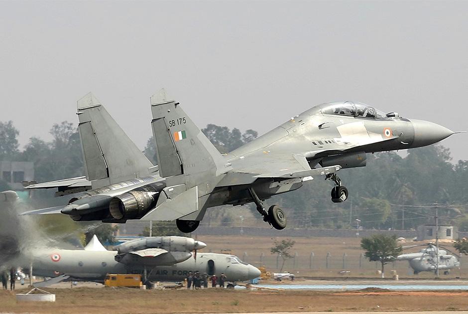 Истребитель Су-30МКИ ВВС Индии.