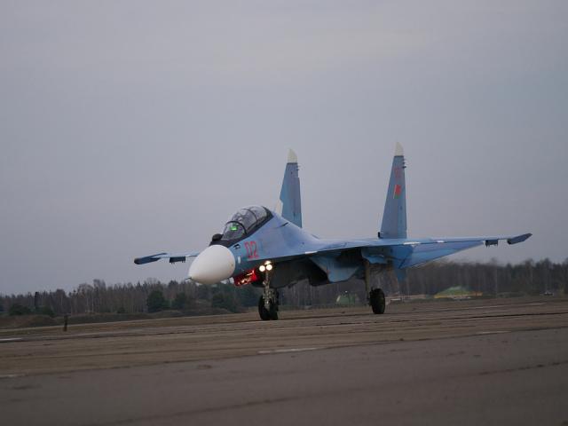 Су-30СМ в Барановичах