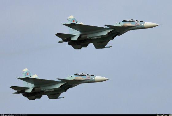 Истребители Су-30СМ ВВС