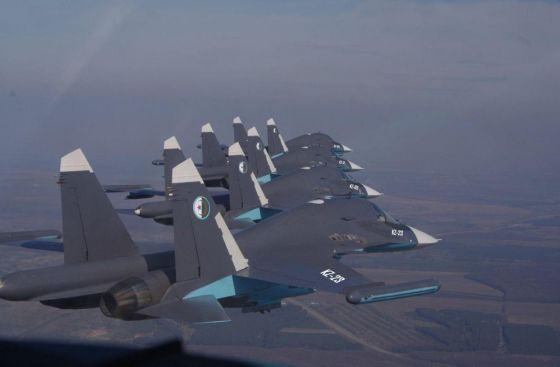 Бомбардировщик Су-32 ВВС Алжира