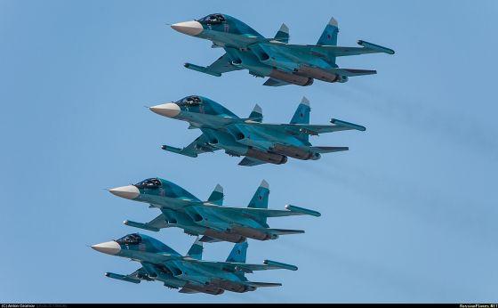 Бомбардировщики Су-34