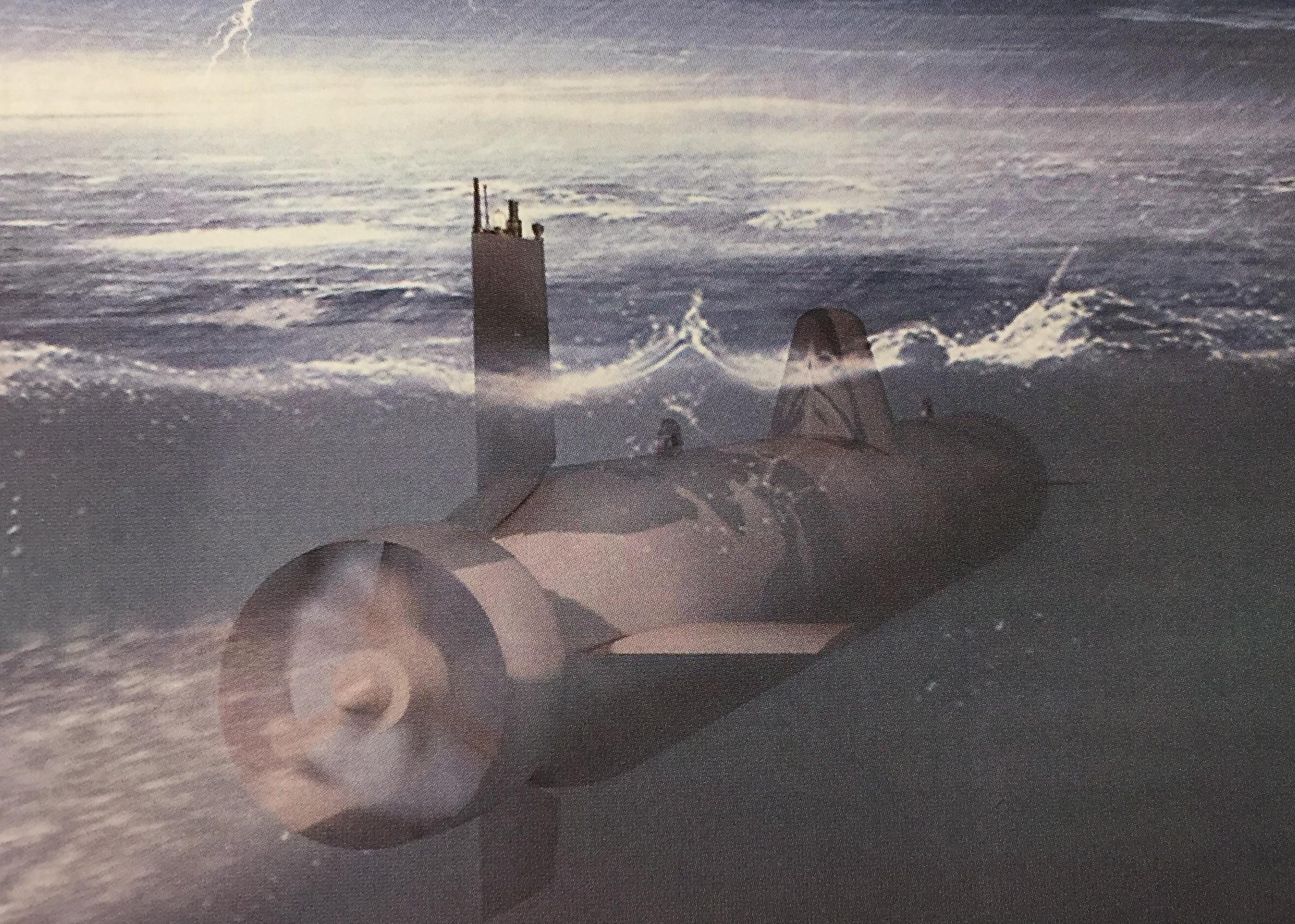 """Предполагемое изображение необитаемой подводной лодки """"Суррогат"""" разработки АО ЦКБ МТ """"Рубин""""."""