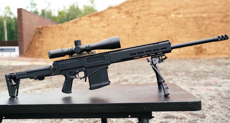 Новая снайперская винтовка Концерна Калашников СВЧ-338 калибра 338.