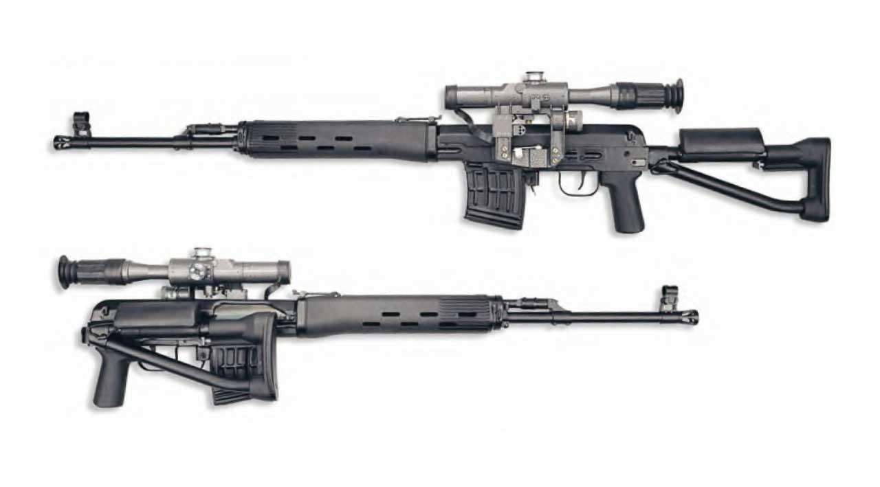 7,62-мм снайперская винтовка СВД-С со складным прикладом.