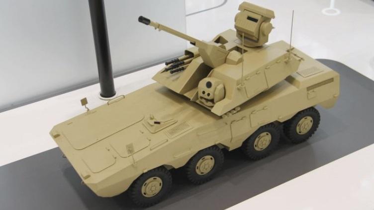 Модель ЗРПК SWS2 SPAAG/SAM на шасси 8x8 VN1.