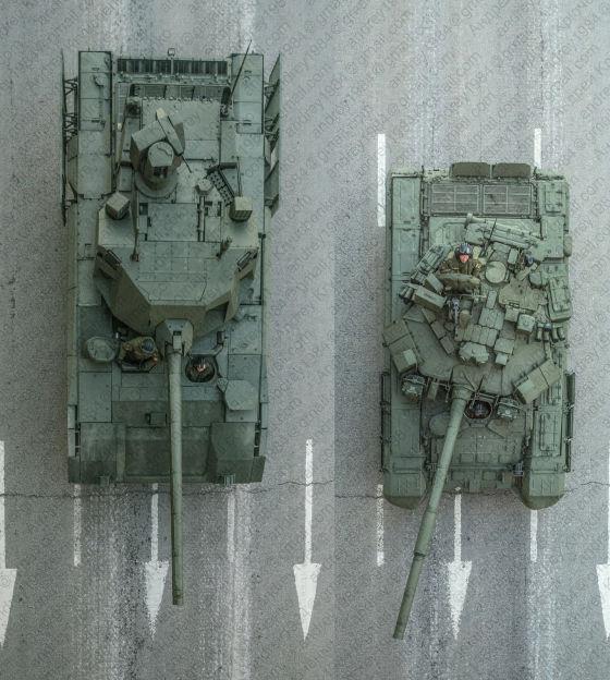 """Танки Т-14 (""""Объект 148"""" на платформе """"Армата"""") и Т-90А,"""
