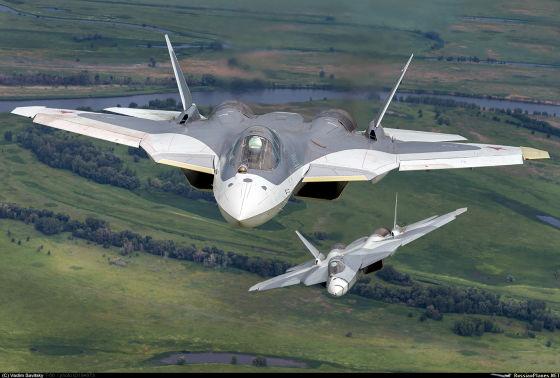 Истребители Т-50 (ПАК ФА)